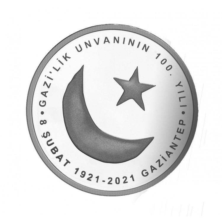 Gaziantep'e Gazilik Ünvanı Verilişinin 100.Yılı Gümüş Çil (Sertifikalı) 2020 'PDA274'