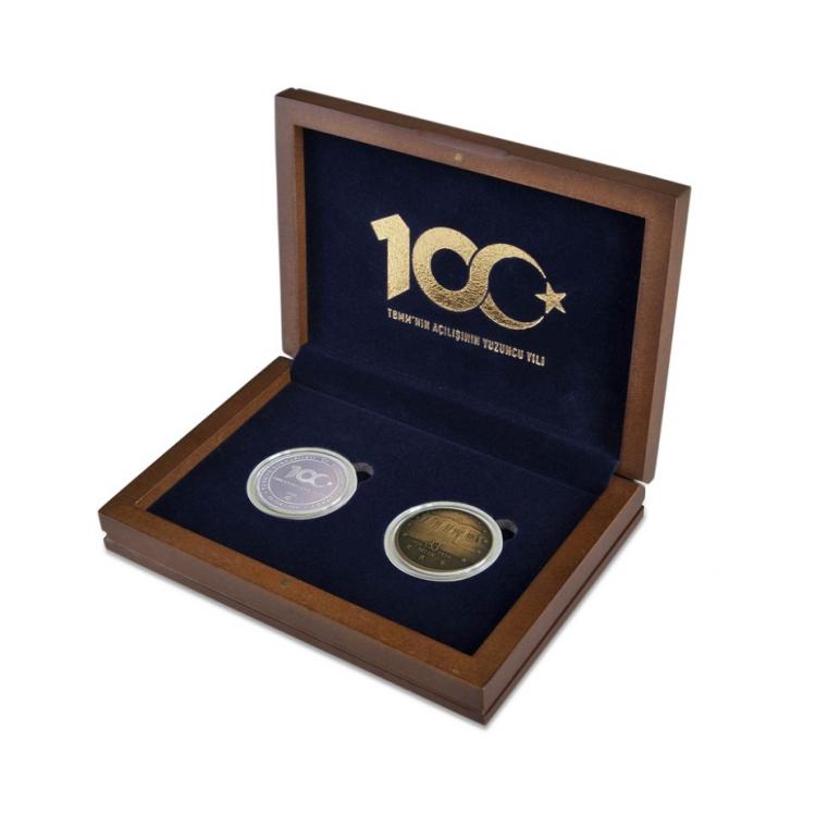TBMM 100.Yıl Hatıra Para (Ahşap Kutulu ve Sertifikalı)