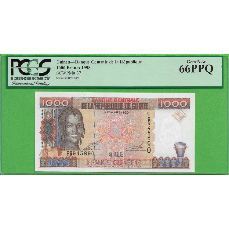 Gine 1000 Frank 1998 PCGS 66PPQ
