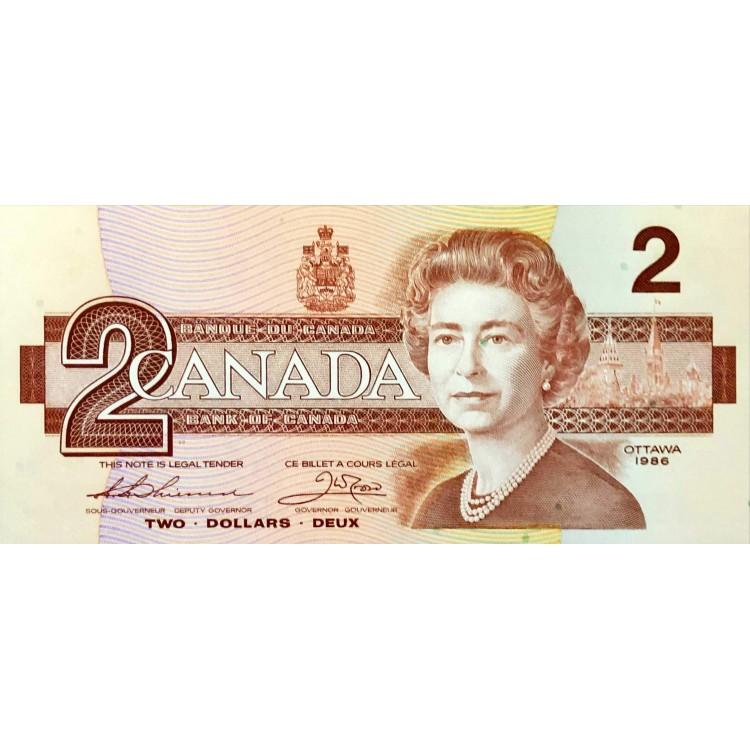 Kanada 2 Dolar 1986 Çil 'PDD84'